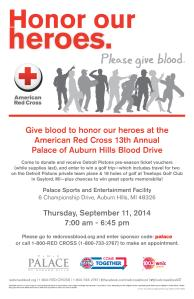 13th Annual Palace Blood Drive